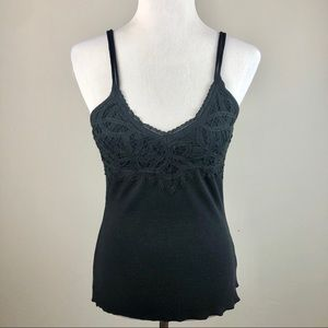 NWT Intimately Free People Black Lace Trim Tank S